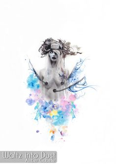 Jenova - Mother of Sephiroth - FF7 FFVII Final Fantasy VII Advent Children - Watercolor - Art - Fanart Watercolor Portraits, Watercolor Paper, Artist Signatures, Final Fantasy Vii, Advent, Fanart, Ink, Drawings, Children