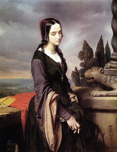 Eliseo Sala (1813 - 1879) - Melancholy or Pia de' Tolomei, 1846