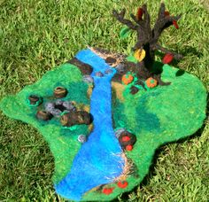 Waldorf inspired fall play scape by OneLoveFelting on Etsy, $55.00