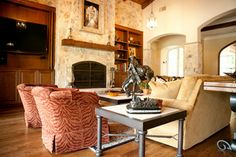 Rancho Santa Fe Living Room Fireplace Makeover - traditional - living room - san diego - Signature Designs by Bonnie Bagley