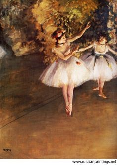 Edgar Degas 'Two Dancers on Stage'