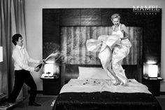 Rock and rollowa sesja w hotelu? Chętnie! / Rock and roll shoot in a hotel? WIth pleasure! fot. Przemysław Pokrycki.