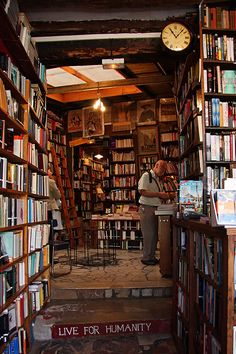 Shakespeare & Company, Paris, France. Coolest bookstore ever!!! It just had so much character :) I wanna go back to France
