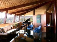 The Schneidman House - A. Quincy Jones. - Crestwood Hills Los Angeles - 1948