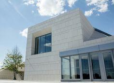 Amazing white brick; modern architecture at its finest.