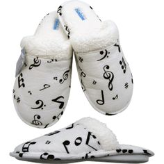 music note slippers