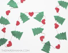Day 13 of my 50 DIY Days of Christmas:Tree Plus Heart Garland. I know we still have a bit of time before Thanksgiving, but I'm ready for Christmas decorations! This last weekend I made a Tree Plus Heart Garland. It may or may not be going up in my house this weekend. Yay! Supplies: – [...] Continue reading →