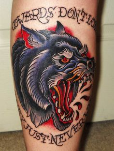 traditionaL WOLF CHEST tattoo - Buscar con Google
