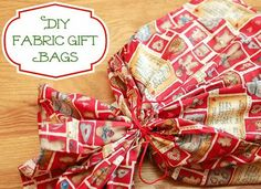 How to Sew Fabric Gift Bags | www.petalstopicots.com | #sewing #giftbags #fabric #Christmas #holiday
