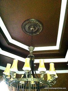 dining room ceiling makeover