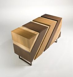 Wooden sideboard with doors SLIDE by i 4 Mariani design Alessandro Dubini