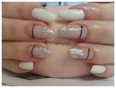Bio Sculptures number 1 French white with silver foil art Bio Sculpture Gel, Gel Overlay, Foil Art, Foil Nails, White Nails, Vegan Friendly, How To Do Nails, Finger, Sculptures
