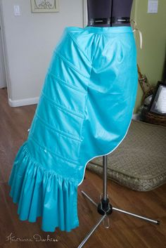 American Duchess: V346: How to Make a Victorian Bustle - Pattern and Instructions