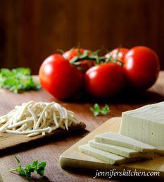 Healthy Homemade Vegan Mozzarella Cheese Recipe | Jennifer's Kitchen It looks like cheese. (?)
