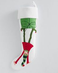 Hable Christmas Stocking Collection - Upside-Down Elf -- we have Hable stockings we bought from Garnet Hill 10 years ago -- love them!