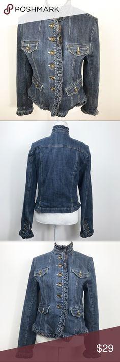 Odd Molly Distressed Denim Jacket