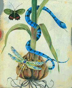 Jewellery illustration by Olaf Hajek for Spread Magazine, NY