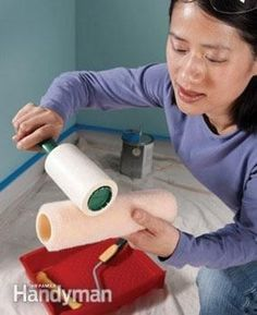 Use a lint roller to clean the fuzzies off your cheap paint roller before you start.
