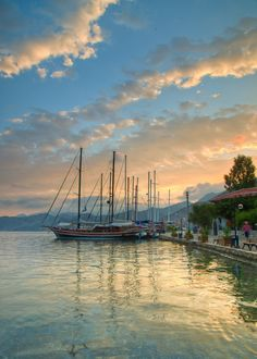 Selimiye Harbor at Sunrise-Marmaris - Turkey