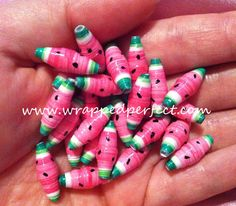 Hey, I found this really awesome Etsy listing at https://www.etsy.com/listing/127846168/watermelon-paper-beads