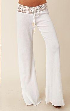 Crochet white pants