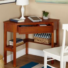 Computer Corner Desk Small Writing Table Storage Drawer Student Dorm Furniture  #SimpleLiving #Contemporary