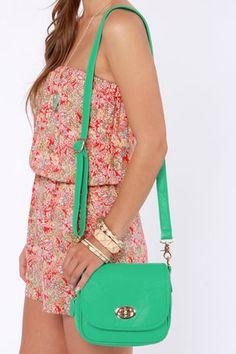 Cute Teal Purse - Vegan Purse - Teal Handbag - $55.00 Love it, but not the price though!