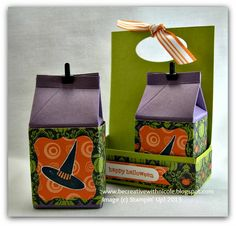 Be Creative with Nicole: TUTORIAL: Mini Milk Carton Holder