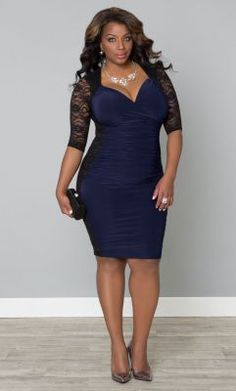 Check out the deal on Valentina Illusion Dress at Kiyonna Clothing