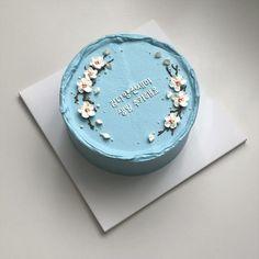 Sweet Cakes, Cute Cakes, Pretty Cakes, Beautiful Cakes, Cake Icing, Eat Cake, Cupcake Cakes, Pretty Birthday Cakes, Happy Birthday Cakes
