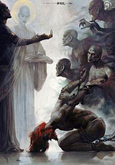 (11) Coups de cœur | Tumblr Dark Fantasy Art, Fantasy Artwork, Dark Art, Arte Horror, Horror Art, Arte Fashion, Journey To The West, Arte Obscura, Creepy Art