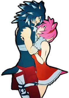 Uhh que sedutor kk Sonic the Werehog & Amy Rose Sonic The Hedgehog, Shadow The Hedgehog, Amy Rose, Couple Drawings, Art Drawings, Sonic Y Amy, Game Sonic, Arte Aries, Sonamy Comic
