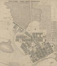Melbourne map 1855 - History of Melbourne - Wikipedia Melbourne Map, Melbourne Victoria, Victoria Australia, Melbourne Australia, Cities, History Timeline, St Kilda, Vintage Maps, Australia