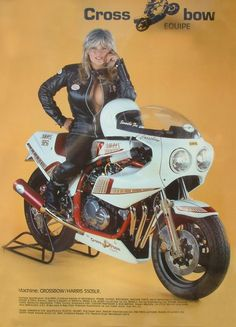 Motorcycle Girl - Samantha Fox - Return of the Cafe Racers  「HARRIS」のマシンってトコがイカしてますw