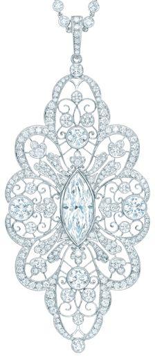 Tiffany & Co diamond pendant.     Image via The Jewellery Editor.