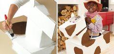 Disfraces caseros con cajas de cartón para niños: vaquero #disfraces #Carnaval #DIY