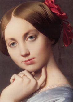 Jean Auguste Dominique Ingres (1780-1867) Vicomtess Othenin d'Haussonville, née LouiseAlbertine de Broglie (Detail)