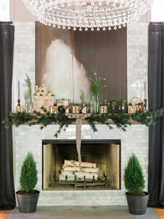 A beautifully decorated mantel can set the tone for theholidays just as much asyour tree. Here are threeeasy, stand-out looks that can make any fireplace more festive in minutes.