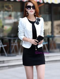 Korean Fashion OL Temperament Double-Breasted Suit