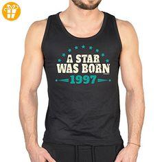 zum 20. Geburtstag cooles Männer TankTop A Star was Born 1997 Geschenk zum  20.
