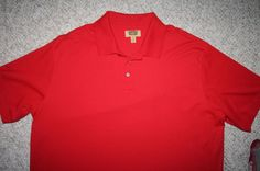 3XLT Foundry Supply Co. cotton polyester red SS polo shirt Mens Choice 3XL Tall #FoundrySupplyCo #PoloRugby
