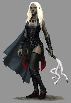 Drow Priestess by Seraph777.deviantart.com on @DeviantArt