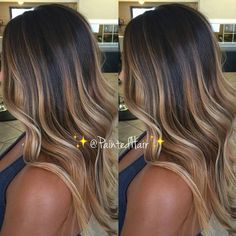 37 Sweet Caramel for 2019 Balayage is an alternative technique to traditional salon highlighting with foils. Your colorist can literally paint highlights precisely where the sun would actually hit your hair. Caramel balayage on black hair can. Summer Hairstyles, Pretty Hairstyles, Prom Hairstyles, Latest Hairstyles, Style Hairstyle, Men's Hairstyle, Blonde Hairstyles, Hairstyle Ideas, Hair Looks