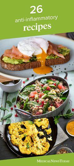 The anti-inflammatory diet contains many prebiotics, fiber, antioxidants, … - Diet and Nutrition Omega 3, Keto, Paleo, Arthritis, Psoriasis Diet, Diet Recipes, Healthy Recipes, Crohns Recipes, Recipes Dinner