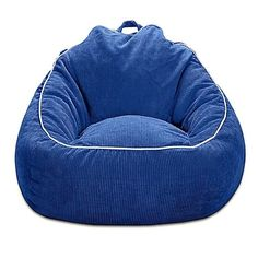 Relax, watch TV, or read a book in comfort and style with the Corduroy Bean Bag Chair that people of all ages will enjoy. Egg Swing Chair, Swinging Chair, Chair Bed, Oversized Bean Bags, Toy Storage Solutions, Cool Chairs, Bag Chairs, Pink Chairs, Kid Bedrooms