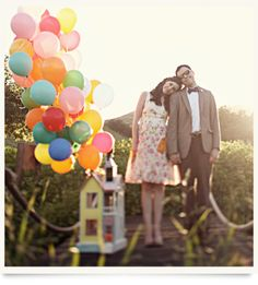 Love this couple photo! Inspired by Disney's Up!