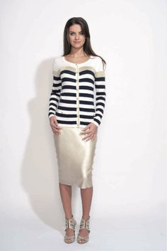 Gilet à rayures larges Odemai sur cpourl.fr - CpourL #marinière Tops, Women, Fashion, Wide Stripes, Stripe Top, Trendy Outfits, Moda, Women's, Fashion Styles