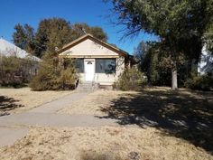 c.1920 Fixer Upper Bungalow in Las Animas Colorado Under $30K ~ Don't Judge a Book By Its Cover - Old Houses Under $50K Opportunity Knocks, Dining Room Hutch, Don't Judge, Property Listing, Built Ins, Fixer Upper, Old Houses, Curb Appeal, Bungalow