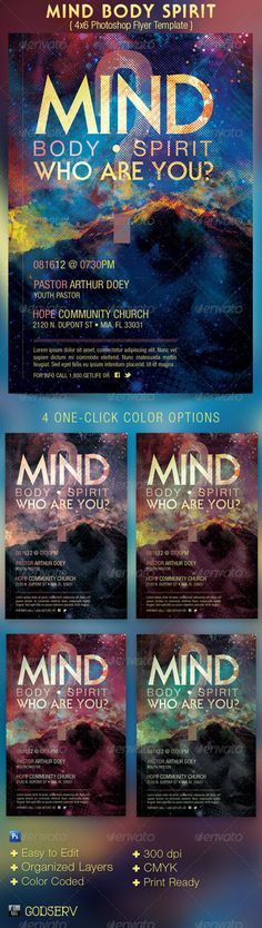 GraphicRiver Mind Body Spirit Church Flyer Template