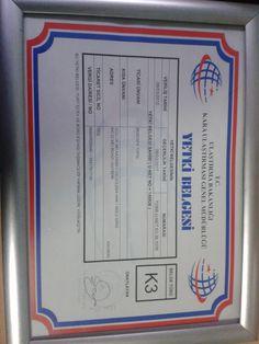 ev ve büro taşımacılığı için k3 yetki belgemiz